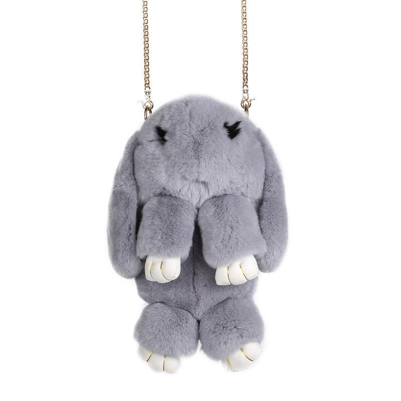 Светло-серый вариант цвета сумки кролик