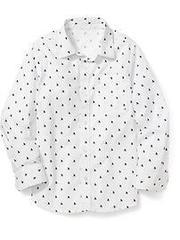 OLD NAVY Рубашка школьная белая с яхтами МВ117