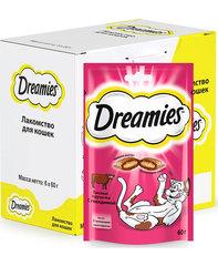 Dreamies лакомство для взрослых кошек с говядиной 60 г