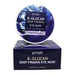 Petitfee B-Glucan Deep Firming Eye Mask - Укрепляющие тканевые патчи для кожи вокруг глаз с бета-глюканом