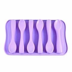 6548 FISSMAN Форма для льда 6 ячеек ЛОЖКИ (силикон)
