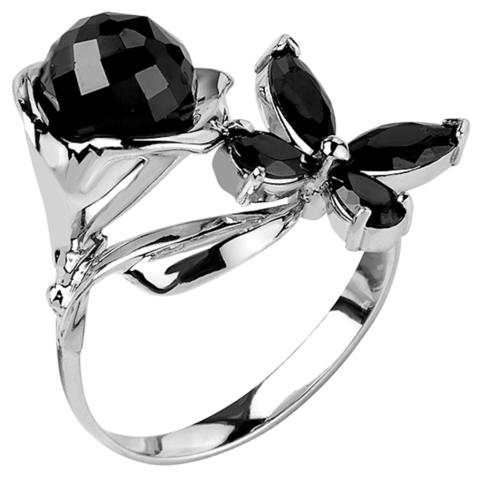 Кольцо из серебра с нано шпинелью Арт.1193-1ч-н-шп