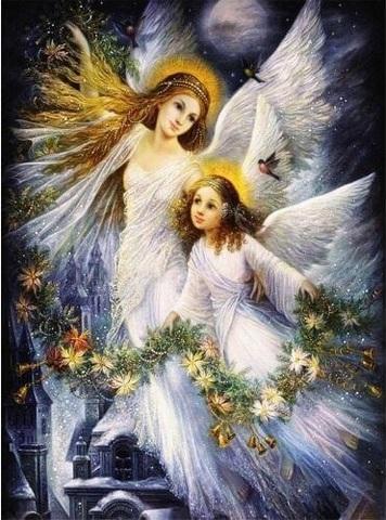 Алмазная Мозаика 40x50 Рождественские ангелы (арт. GB70742)