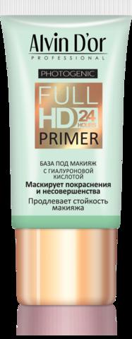 Alvin D`or  SP-03 База под макияж Full Hd primer 24hours (зелёная) 25мл