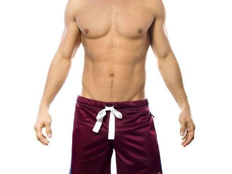 Мужские шорты бордовые Andrew Christian Comfort Shorts  6042