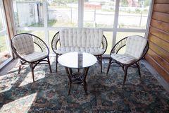Комплект для отдыха Туркей (TURKEY) (стол круглый (со стеклом)+2 кресла + диван)