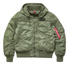 Куртка Alpha Industries MA-1 Hooded Rib Sage (Зеленый)