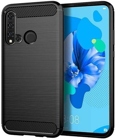 Чехол Huawei P20 Lite 2019 (Nova 5i) цвет Black (черный), серия Carbon, Caseport