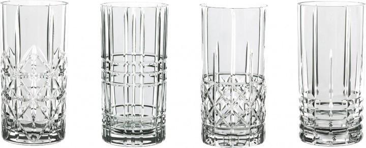 Набор из 4 хрустальных стаканов Highland, 375 мл