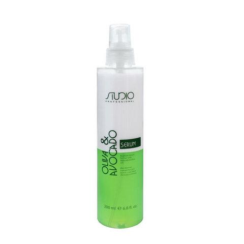 Двухфазная сыворотка, для увлажнения волос с маслами авокадо и оливы Kapous, 200 мл.