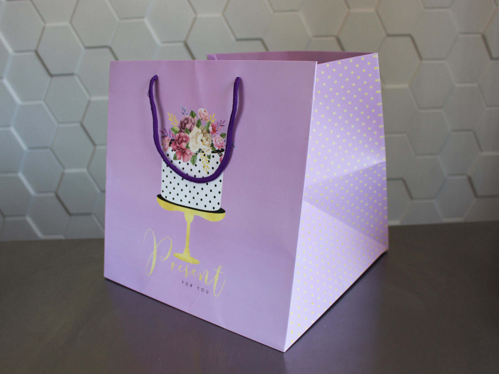 Пакет большой «Present for you» 30х30х30 см