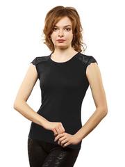 WBV108 блузка женская, черная