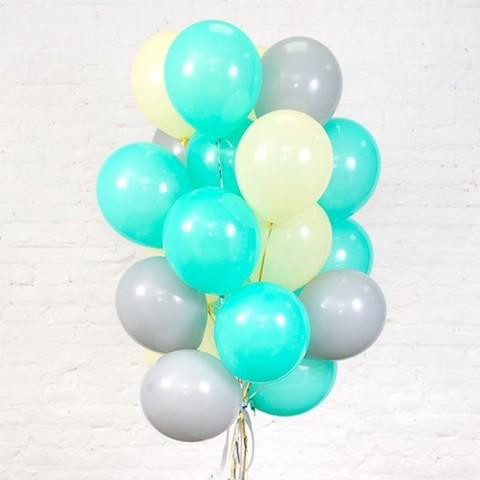 Воздушные шары с гелием Тиффани в сером