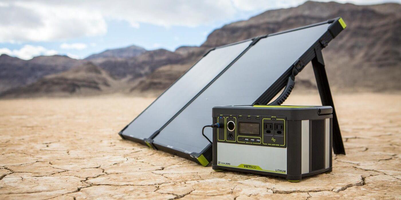 Солнечная панель Goal Zero Boulder 100 Briefcase пример использования