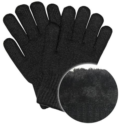 Перчатки вязанные черные