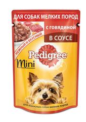 """Корм для собак мини пород """"Pedigree"""" С говядиной 85г"""