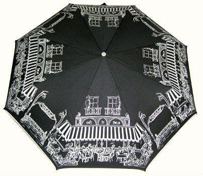 Зонт чёрный складной Guy de Jean 3452-6 Cafe