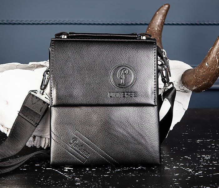 BAG560-1-2 Небольшая мужская сумка с ремнем на плечо фото 03