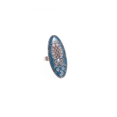 Кольцо сова K27967.7.17 BL