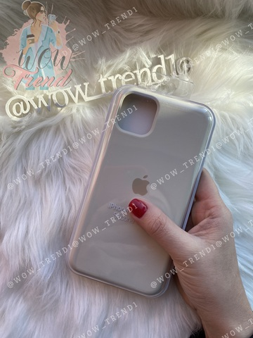 Чехол iPhone 11 Pro Max Silicone Case /antique white/ молочный 1:1
