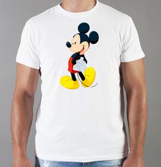 Футболка с принтом Микки Маус (Mickey Mouse) белая 0016