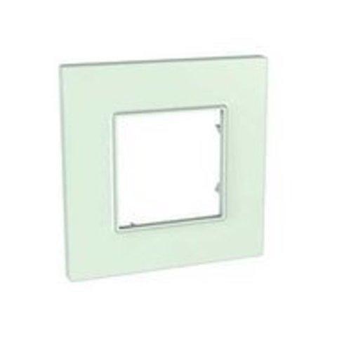 Рамка на 1 пост. Цвет Матовое стекло. Schneider Electric Unica Quadro. MGU2.702.17