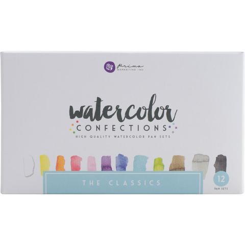 Акварельные краски Prima Marketing Watercolor Confections Watercolor Pans 12шт. - The Classics
