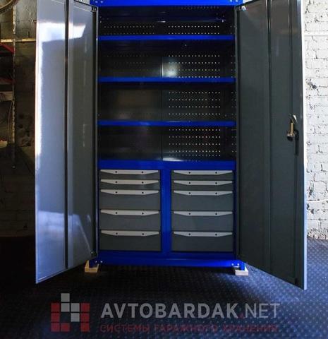 Модульный пол в гараж 3300 х 2150 мм (пандус с 3-х сторон). Набор из черных плиток
