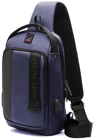 Однолямочный рюкзак  ARCTIC HUNTER XB00100 Синий USB