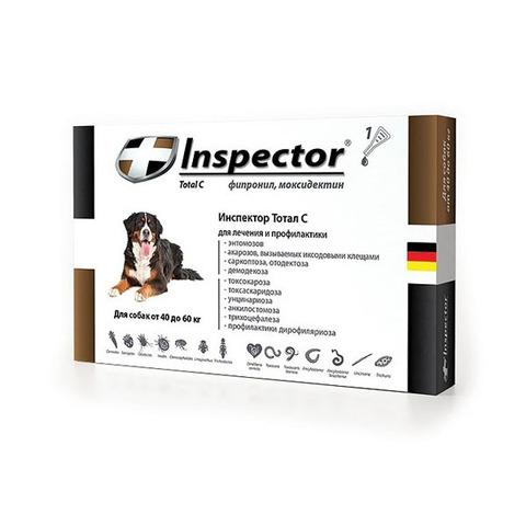 Инспектор для собак от 40кг до 60кг(1 пипетка)