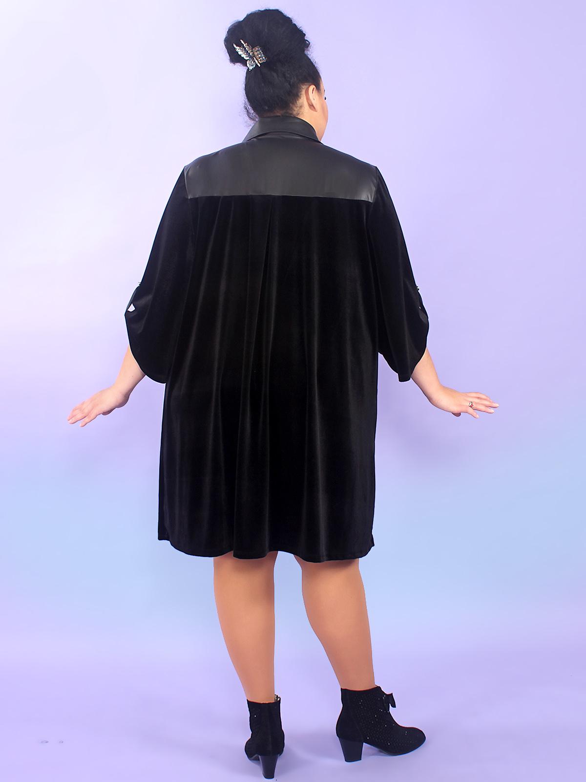 Велюровое платье-рубашка