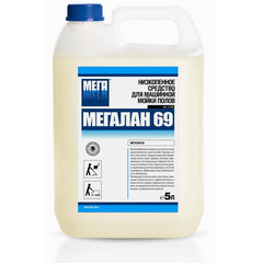 Средство для машинной мойки водостойких полов Мега Мегалан 69 5 л (концентрат)