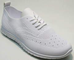 Легкие кроссовки для фитнеса женские Small Swan NB-821 All White.