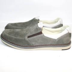 Серые туфли мужские IKOC 3394-3 Gray.