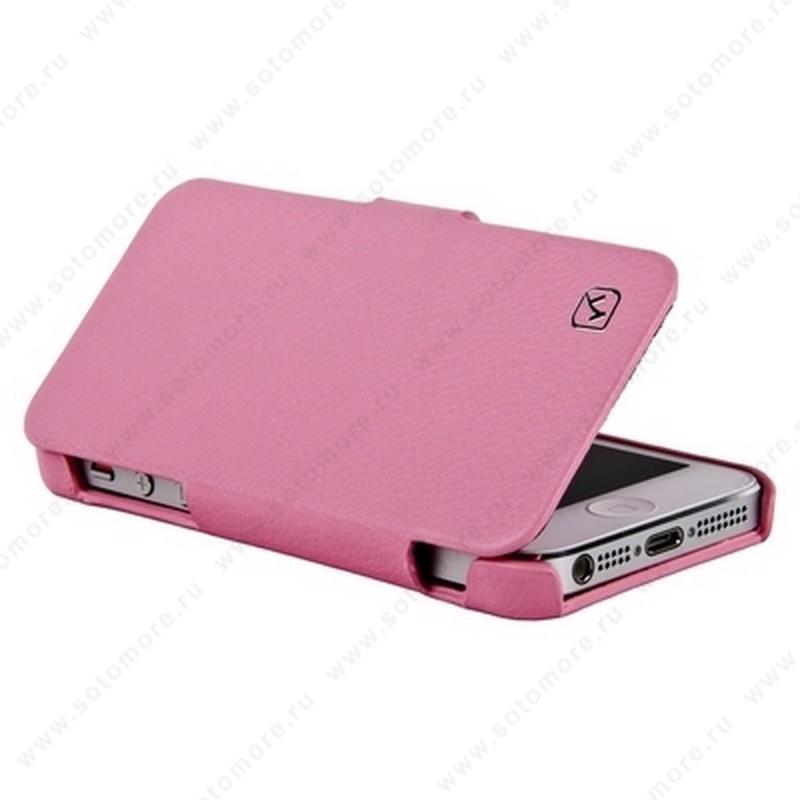 Чехол-книжка HOCO для iPhone SE/ 5s/ 5C/ 5 - HOCO Duke folder Leather Case Pink
