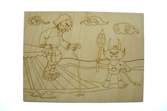 055-3231 Раскраска по дереву