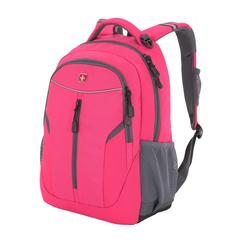 Рюкзак Wenger, розовый/серый, со светоотражающими элементами, 32x15x45 см, 22 л