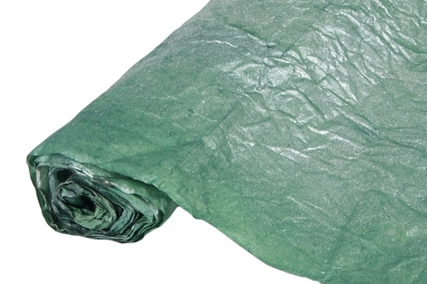 Бумага жатая эколюкс 70см х 5м темно-зеленая/серебро 10/1S