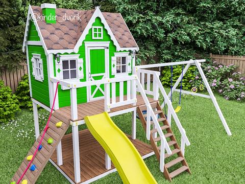 уличный игровой домик для мальчика