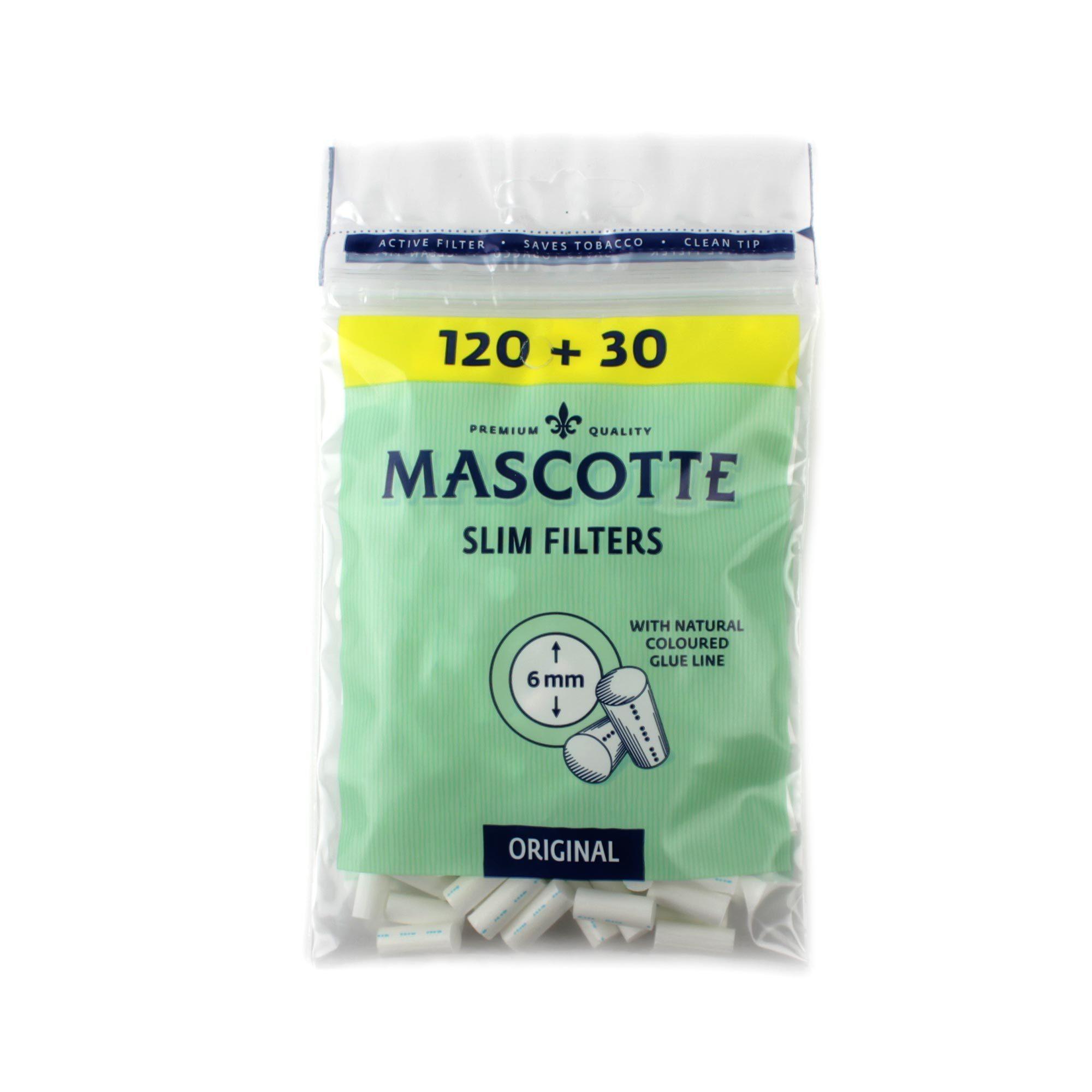 Сигаретные фильтры MASCOTTE Slim Filters 6mm 120 шт
