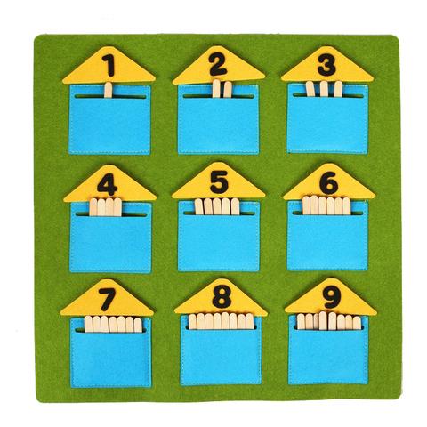 Дидактический коврик Домики-считалки, Smile Decor