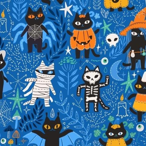 Хэллоуинские коты. Halloween cats