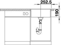 Мойка кухонная Blanco Dalago 5-F Silgranit - вид спереди
