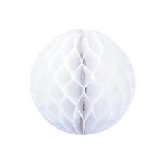 Бумажное украшение шар 20 см белый