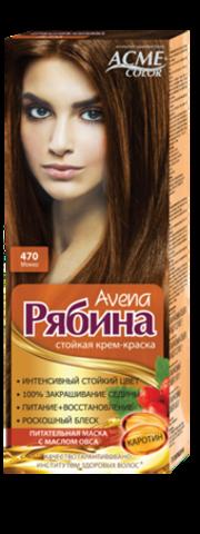 Рябина Avena Крем-краска для волос тон №470 мокко