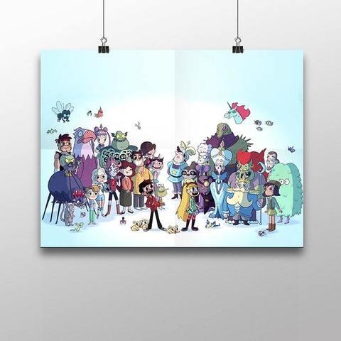 Плакат с героями