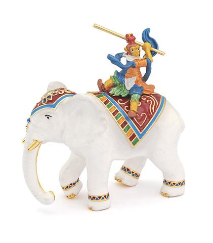 Бог обезьян на слоне