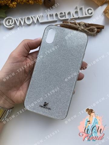 Чехол iPhone 7/8 Swarovski Case /silver/