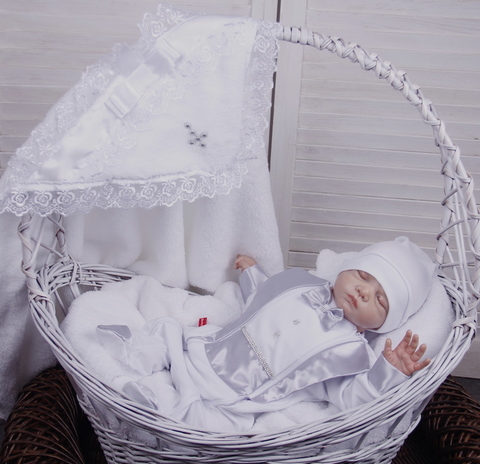 Набор для крещения мальчика Маленький принц серый