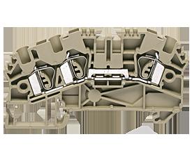 ZRK 4/3A BG пружинная проходная клемма стандартного бежевого цвета  Артикул: 3516.2
